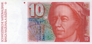 Euler is remembered on the 10 Swiss Franc note